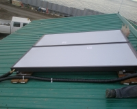 Flat Plate solar thermal panel on Lenna Hanna's house.