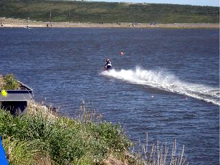 The 4th would not be the 4th in Kotzebue without some water skipping on a snowmobile.